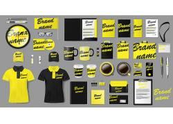 黄色黑色字母公司VI
