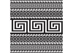 黑色的古典花纹