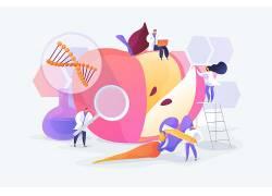 生物实验卡通人物矢量图片