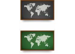 地图绿色壁画