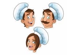 卡通厨师头像素材图片
