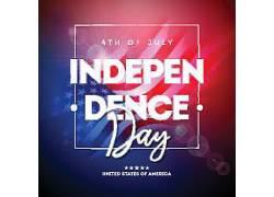 独立日美国插图矢量设计图片
