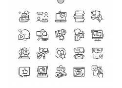 各种形象黑白卡通人物图片