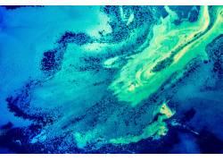 蓝色海洋梦幻背景图片