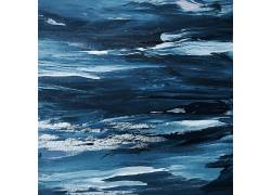 蓝色抽象水彩图片