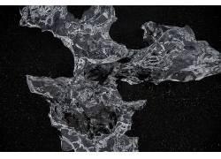 黑色花纹素材