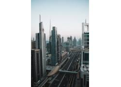 城市建筑与公路素材