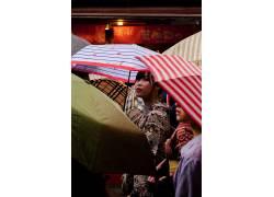 清水建筑街道人物图片摄影