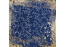 蓝色背景花朵纹理素材