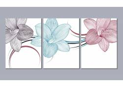 现代风格玉兰花家居装饰画创意设计