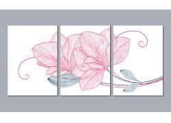 现代风格简约花卉家居装饰画创意设计