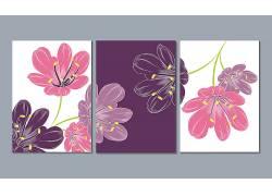 现代风格彩色花朵装饰画创意设计