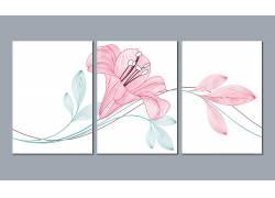 现代风格清新花朵装饰画创意设计