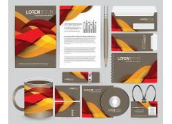 红棕色流线创意商务企业vi设计