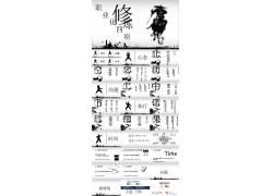 中国功夫背景的《职业修炼》幻灯片模板下载图片