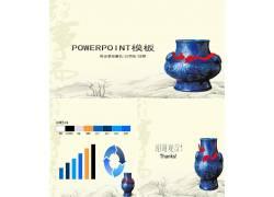 中国陶瓷背景幻灯片模板图片