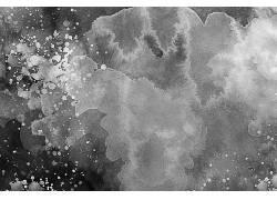 黑白色墨迹墨团美术纹理背景壁纸