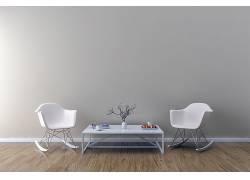 现代简约客厅茶几木地板室内装饰