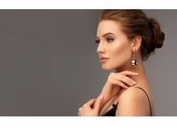 珠宝首饰模特美女图片