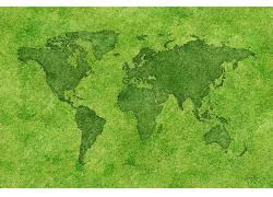 卫星彩色地图ppt素材