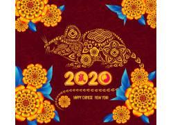2020金鼠贺岁鼠年元素 鼠年素材 (7)