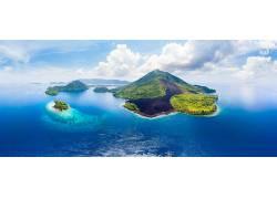 美丽小岛岛屿和海洋