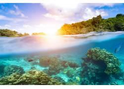 小岛岛屿和海洋