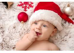 红色彩球挂件圣诞儿童礼物