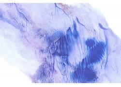 现代简约蓝色墨迹毛刷素材