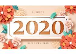 2020鼠年背景矢量素材 (10)