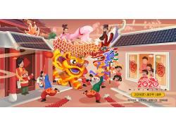 新年街道喜庆插画 (108)