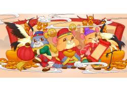 鼠年数你有钱新年红包插画