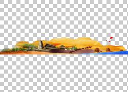 骆驼Erg沙漠,金色沙漠PNG剪贴画金框,食品,涂,手,橙,金,封装PostS